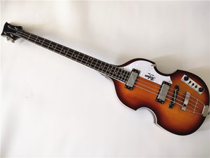 Бесплатная доставка Высочайшее качество Hofner Icon Series Vintage Sunburst Hirein Bass Electric Guitar 4 Strings Bass