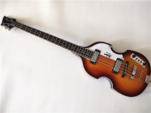 Livraison gratuite Top Qualité Hofner Icon Series Vintage Sunburst Bass Bass Guitare Electrique 4 Cordes Basse