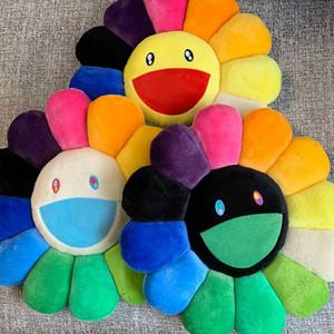 40cm 26 Color Trendy Kaikaikiki Sun Flower Smiling Face Back Cushion Toys Decorative Pillow Office Cushion Car Seat