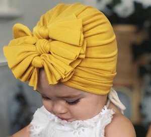 Baby Girl Cotton Headwrap Floppy Bow Turban Headband For Baby Head wear Baby Top Knot Headband Kids Girls Hair Accessories