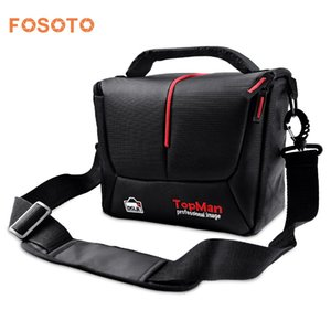 fosoto DSLR Camera Bag Mode-Digital-Foto Video-Kasten Wasserdichte Schultertasche für DSLR Sony Canon Nikon Camera Lens T191025