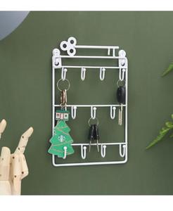 Hierro montado en la pared Clave ganchos 12 perchas de metal decorativo titular Escudo Hat Rack Decoración de almacenamiento organizador de llaves soporte de pared