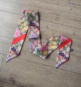 2020 Neueste Schals Schal Top Modemarke Designer Seidenschal Haarband Top-Level-Seidenband Art und Weise Stirnband Fliege Schals 90 ~ 100CM