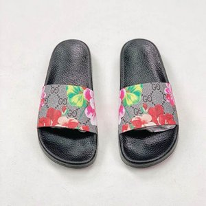 Luxury Designer Rubber Slides Slippers Sandal Floral Brocade Women Men Slipper Gear bottoms Flip Flops striped Beach