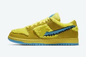 Желтый SB Dunk Low Медведь малыши обувь для продажи с коробкой 2020 мужчин, женщинами Повседневной обувью магазина оптовой цены size36-45 бесплатную доставку