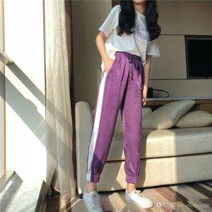 Free Shipping New Super Fire Female Sports Nine Pants Xia Fufu Pants Casual Trousers Women's Pants & Capris Printed Sweatpants v8896