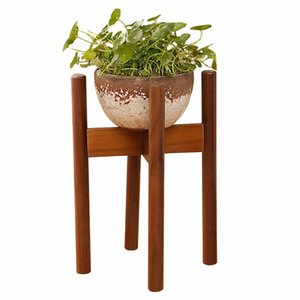 Wood Modern Potted Holder Display Durable Adjustable Easy Install Indoor Outdoor Plant Stand Flower Mid Century Decoration Rack gwwM#