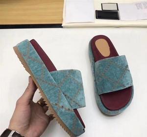 automne design et d'hiver nouvelles pantoufles de luxe dames robe sandales plateforme en plein air une véritable toile pantoufles en cuir mode noir jaune