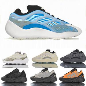 Adidas YEEZY 700 V3 v2 Alvah brillan en la oscuridad los zapatos corrientes de las zapatillas de deporte para hombre de 3M MNVNS Orange Chicas Chicos Azael Negro Kanye Oestes