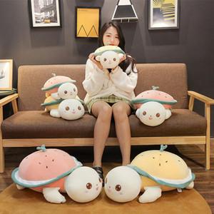창조적 인 수박 거북이 베개, 아래로 코튼 부드러운 봉제 장난감, 소녀를위한 큰 거북이 선물 어린이 선물 유행