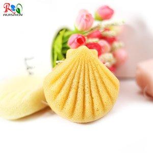 2020 New Factory Direct Sale Shell Shape Natural Skin Care Body Facial Washing Cleaning Konjac Sponge
