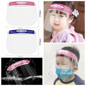 Niños transparente capa secundaria reutilizable lavable anti-niebla Splash visera de protección de esponja cubierta de la cabeza LJJP206 Seguridad