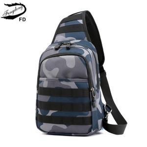hommes Fengdong mini-sac à bandoulière petit sac messager pack poitrine imperméable écharpe de camouflage sacs crossbody pour les femmes Bagpack