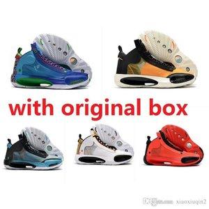 Mens Jumpman scarpe 34 retrò da basket in vendita volo Air 89 Future BHM Natale colorato aj34 reale aj 34 scarpe da ginnastica Oreo con box