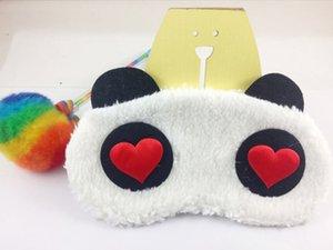 Sleep Mask Cute Eyeshade Cartoon Panda Style Blindfold Plush Fabric Blindfold sleeping eye Shade Cover home supplies