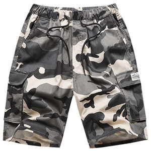 2020 Mens Cotton Cargo Short Pants Casual Style Camouflage Belts Shorts Multi-Pocket Good Quality S-7XL Free Shipping