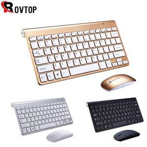2.4g Keyboard Mouse Combo Set multimedia Teclado inalámbrico y mouse para computadora portátil Mac Desktop PC TV Suministros de oficina