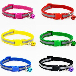 Colorful Reflect Collar Light with Bell Dog Cat Nylon Adjustable Fashion Available Makes Your Dog Visible Safe & Seen Blinking 260pcs