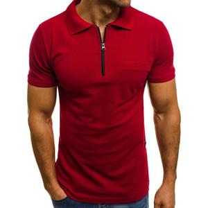 Hot Sale Men's T Shirt 2020 Summer Fashion Solid Short Sleeve T Shirt Men LAISO Print Collar Slim Fit Mens Top Tees