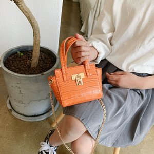 ins Korean style crocodile pattern stone pattern mini children's portable crossbody Lipstick Lipstick bag women's bag