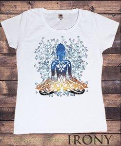 Tee Fleuri Pour Dames Yogatraining Haut Buddha Chakra Meditação Hobo Boho - Paix T-shirt Preto Estilo