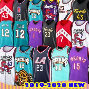 Мемфис Ja Моран Гризли Баскетбол 12Fuck Торонто Винс Картер Хищники трикотажные изделия LA Clippers Лу Уильямс Джерси Майк Бибби Паскаль Siakam
