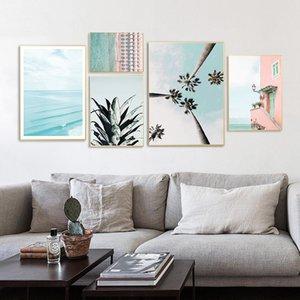 Coastal Sea Beach Canvas Poster Nordic Seascape Wall Art Print Painting Scandinavian Decoration Picture Modern Living Room Decoration 5