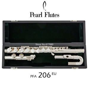 Venda quente Pérola Alto Flauta PFA-206EU G Tune 16 Closed Buraco Chaves Sliver Plated com frete grátis caso