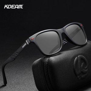 KDEAM 광색 및 편광 선글라스 남성 탐색 알루미늄 마그네슘 프레임 남성 안경 UV400 나이트 비전 고글 T200619