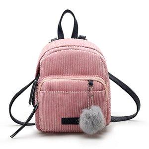 Малая Женская мода Рюкзак Новой Сумка Hairball вскользь плечо сумка Рюкзаки Девушка Дама мешок школа Mochilas Student