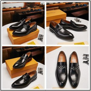 2020 HOT! New Cheap men shoes dress shoes leather material mens designer for men with Genuine Leather fashion casual men luxury shoes
