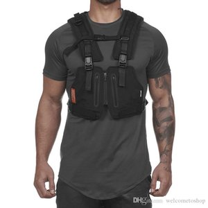 Men's Outdoor Sports Training Cycling Tank Tops Fitness Active Multi-functional Tactical Vests Wear-resistant Protective Jersey For Boys