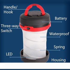 Camping Lantern LED Spring Elastic Folding Portable Portable Lanterns Small Lantern Utility Multifunctional Outdoor Tool LJJN30