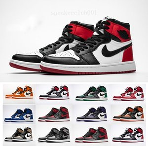 New OFF 1s Red Black 1 White Chicago UNC Mens Basketball Shoes For Men Sports Womens Designer Sneakers Chaussures Trainers Size 36-45 RW621