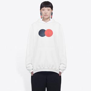 20SS Simple Letter Printed толстовки моды пуловер с капюшоном Толстовка Мужчины Женщины High Street толстовки свитера Открытый Негабаритные HFYMWY390