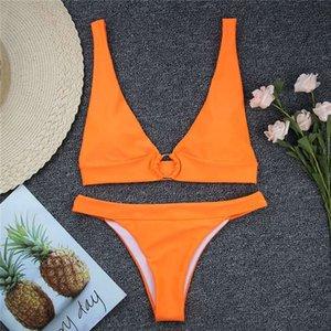 2020 Classic Patterns Swimwear for Women Seperated Bikinis One Piece Swimsuits Backless Sexy Retro Femme Beach Wear