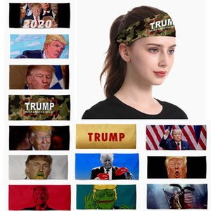 38style Trump Cinta de cabeza de impresión en 3D elástico Headwarp Keep America Gran divertido Trump Deportes turbante leche Fragmentos de la mascarilla HHA1457