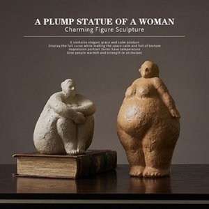 Resin Woman Statue Art Model Ornaments Office Cafe Bedroom Desktop Display Crafts Home Decoration Girl Christmas Birthday Gift T200709
