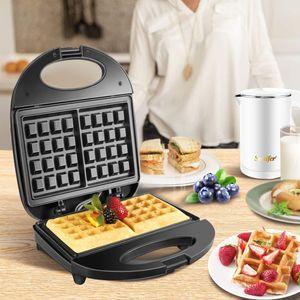750W elétrica Waffles Criador Ferro Sandwich Maker Bubble Machine ovo Bolo Forno Pequeno-almoço Waffle Máquina 220V