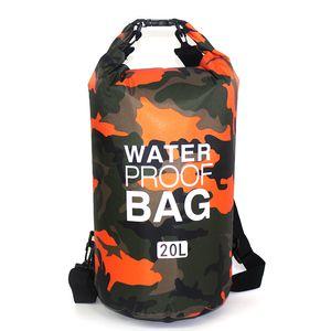 Bolsa Auen Tasche camuflaje TRAGBARE Rafting Tauchen Dry Sack PVC Wasserdicht Faltung Schwimmen Lagerung Tasche fr Fluss Trekki