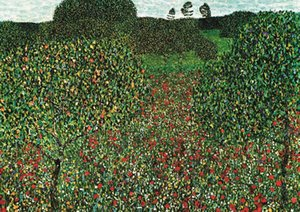 Klimt - Poppy forest QUALITY Art Canvas Painting Home Decor Handpainted &HD Print Oil Painting On Canvas Wall Art Canvas Pictures 200711