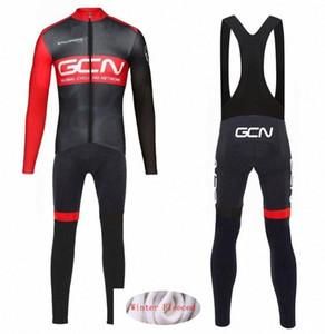 Nueva GCN 2020 PRO TEAM invierno caliente de polar Ciclismo Ropa Hombres Jersey juego del deporte bicicleta MTB de la ropa los pantalones del babero establece fA5i #