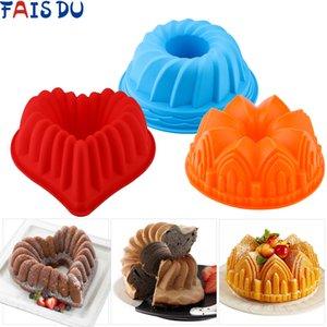 3D Şekli Rastgele Renk Silikon Kek Kalıp DIY Pişirme Tatlı Mousse Kek Mutfak Pişirme Araçları Sanat Tepsi Aracı Modeli