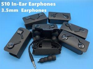 DHL 2019 mais novo caixa S10 Fone de ouvido 3.5mm In-Ear Earbuds Com Mic Volume Remote Control para Samsung S10 S10e s10 + sem caixa