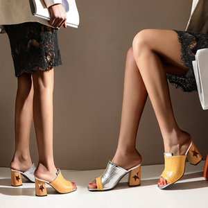 Women Sandals Fashion Beautiful High Heels Sandals Ladies Summer Shoes yellow white black Plus Size 40 41 45 47 zapatos de mujer