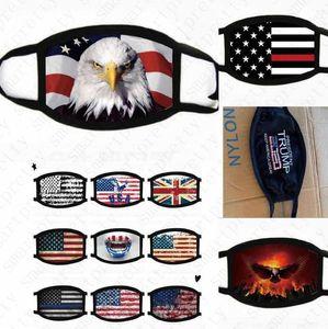 USA America Flag Eagle Trump Print Masks Washable Cotton Face Mask Breathable Summer Women Man Outdoor Cycling Masks 2020 hot D52009HQ92