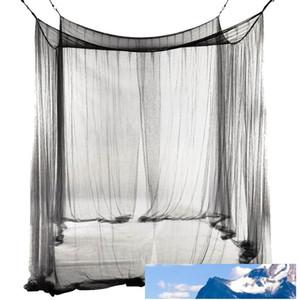 Queen / Kral ölçekli Oda için yeni 4-Köşe Yatak Netleştirme Canopy Cibinlik 190 * 210 * 240cm (Siyah) Yatak Cibinlik