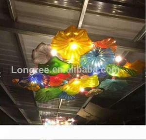 Modern Art Glass Wall Plates Handmade Murano Glass Wall Ceiling Plates Hotel Living dinning Room Wall Decor