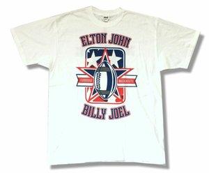 Elton John Billy Joel Face 2 Face Foxborough MA Show 2009 White Shirt New Tour 100% Cotton Short Sleeve Summer T-Shirt