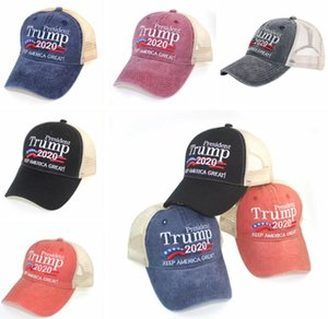 Trump 2020 Baseball Cap Sports Ball Caps Donald Washed Cotton Outdoor Hats Embroidery Sports Snapback Sun Hat Party Hip Hop Hats LSK238